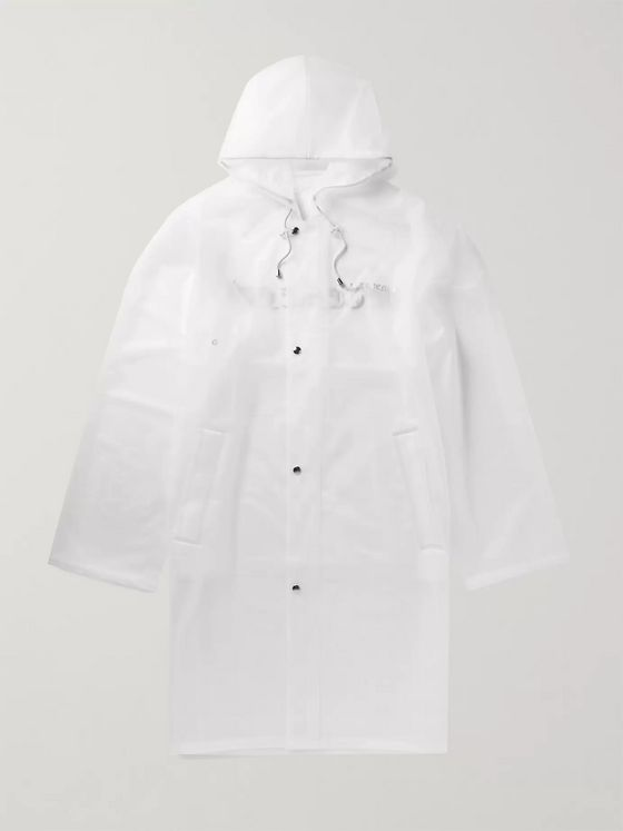 VETEMENTS Logo-Print Rubber Raincoat