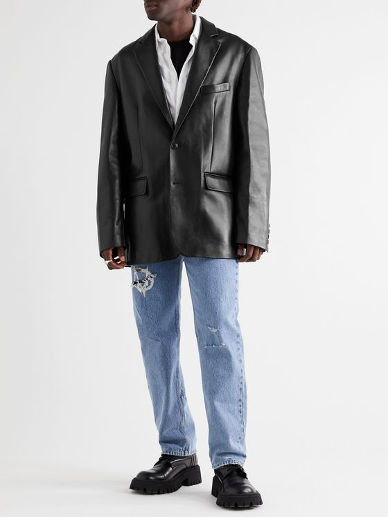 Vetements Oversized Leather Blazer