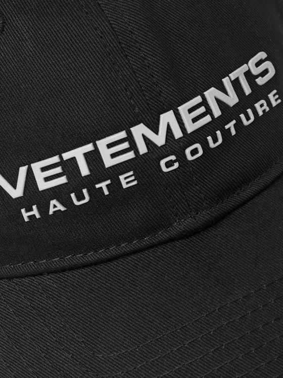 Vetements Logo-Appliquéd Cotton-Twill Baseball Cap