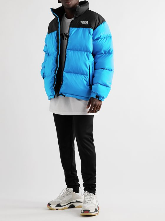 Vetements Colour-Block Quilted Shell Jacket