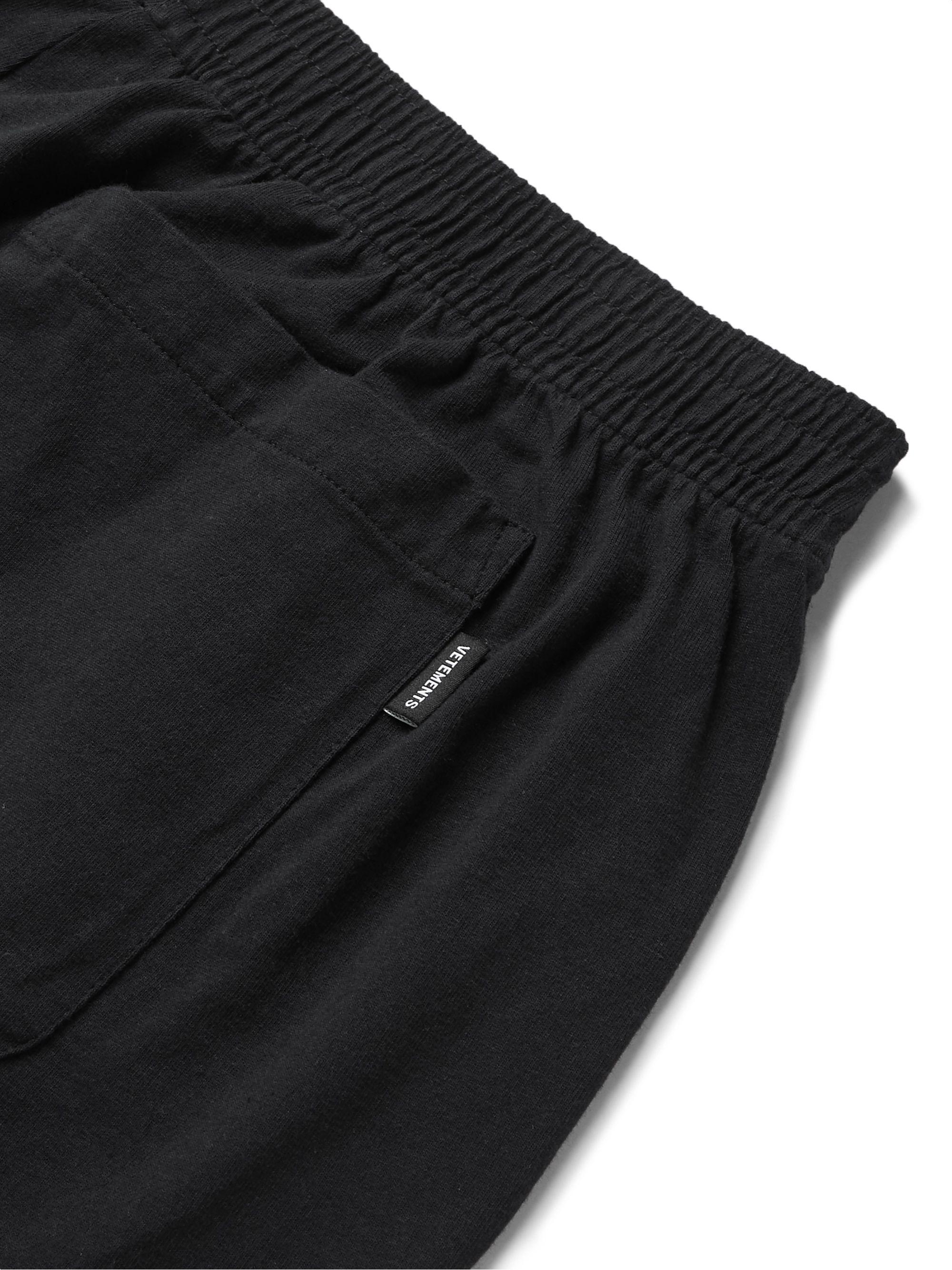 Black + Motörhead Wide-leg Printed Cotton-jersey Shorts   Vetements