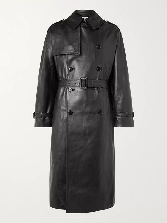Vetements Oversized Leather Trench Coat