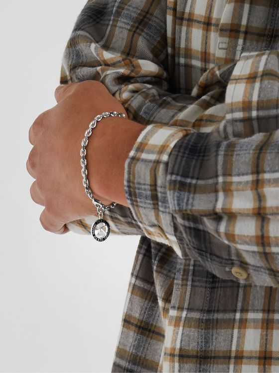 A.P.C. Benoit Silver-Tone and Resin Chain Bracelet