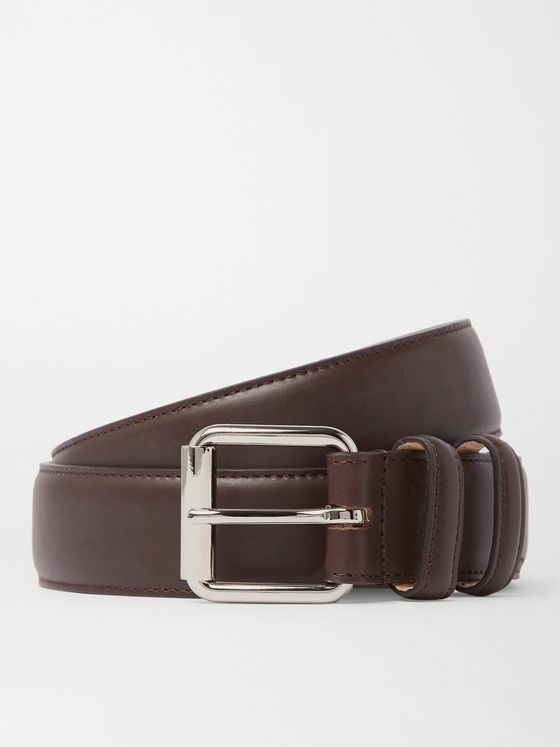 A.P.C. 3cm Paris Leather Belt