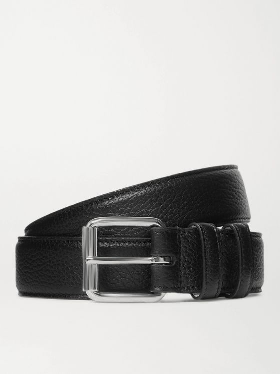 A.P.C. 3cm Paris Full-Grain Leather Belt