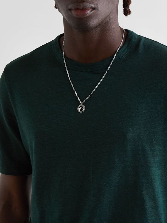 A.P.C. Benoit Silver-Tone and Resin Chain Necklace