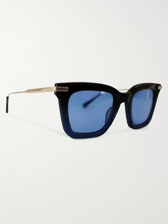 Native Sons + Sacai Cornell 2 Square-Frame Acetate and Gold-Tone Sunglasses