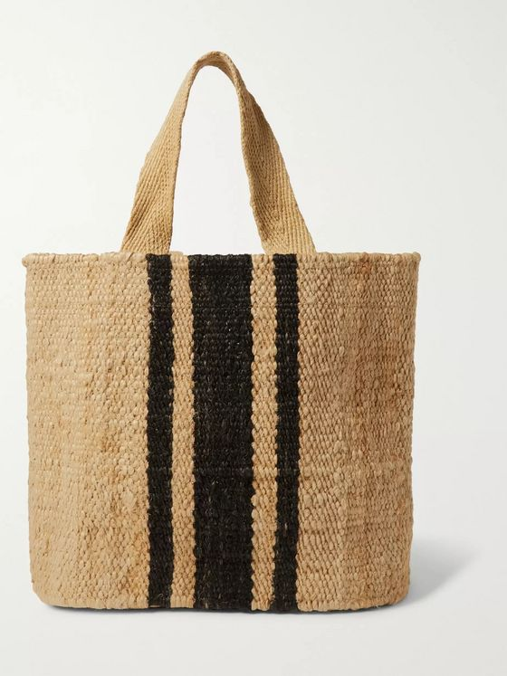 James Perse Playa Striped Hemp Tote Bag