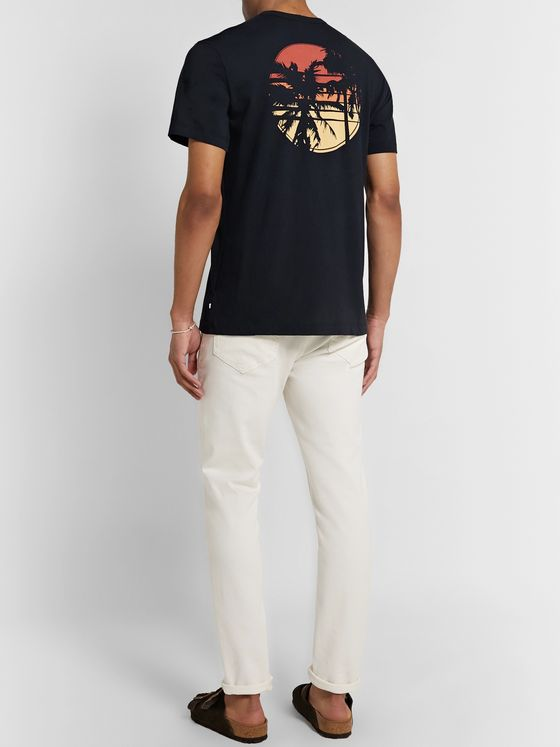 James Perse Printed Combed Cotton-Jersey T-Shirt