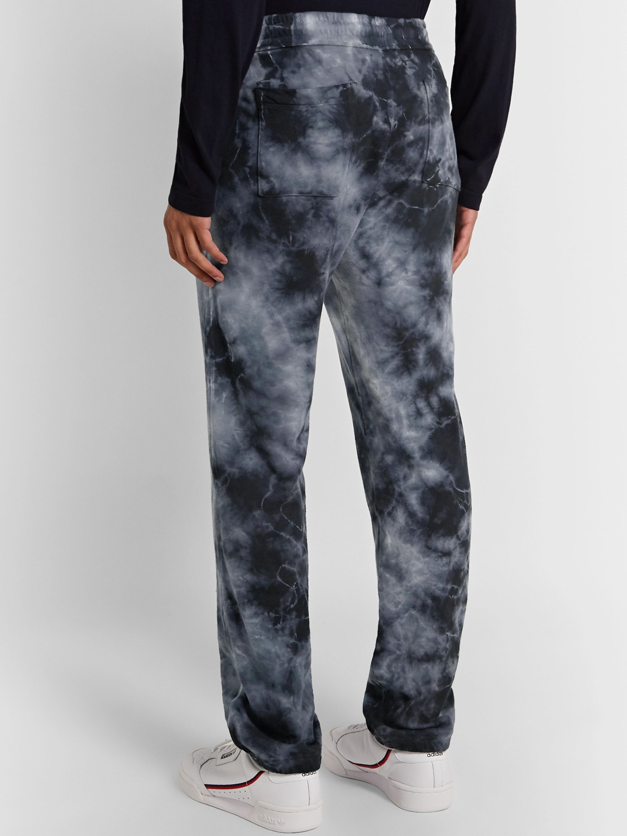 James Perse Tie-Dyed Loopback Supima Cotton-Jersey Sweatpants