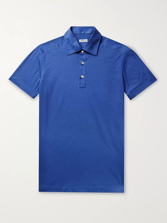 Kiton Cotton-Jersey Polo Shirt