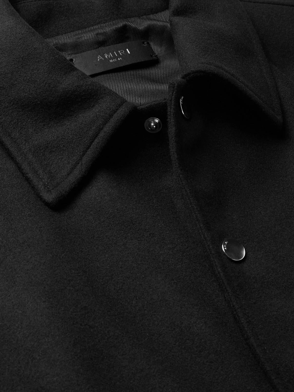 AMIRI Bomber jackets LOGO-EMBROIDERED APPLIQUÉD FLEECE BOMBER JACKET