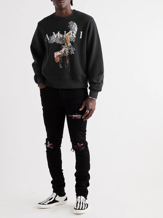 AMIRI Printed Loopback Cotton-Jersey Sweatshirt