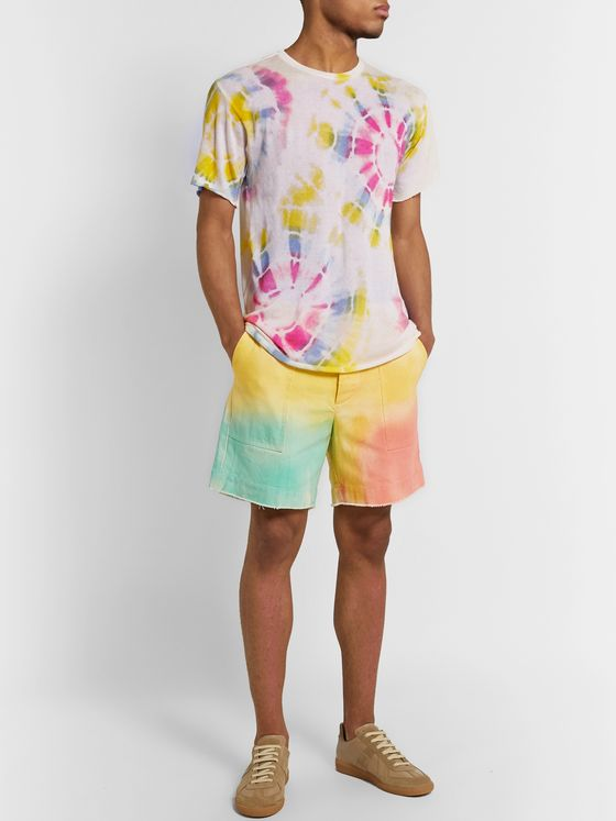 The Elder Statesman Tie-Dyed Cotton-Twill Shorts