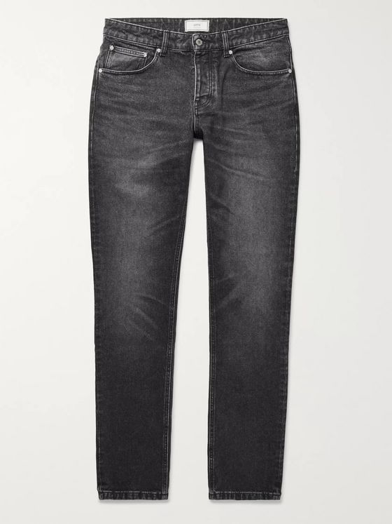 AMI PARIS Washed-Denim Jeans
