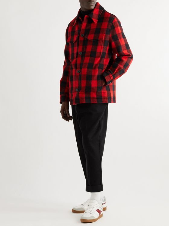 AMI PARIS Checked Virgin Wool-Flannel Overshirt
