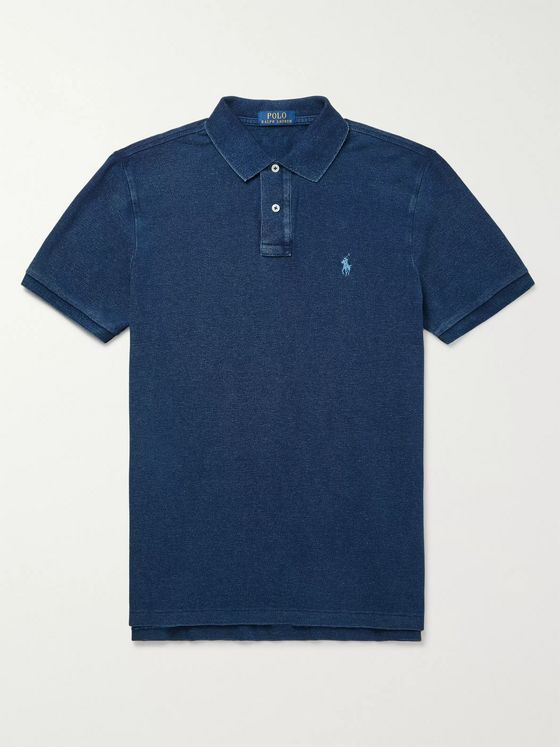 POLO RALPH LAUREN Slim-Fit Garment-Dyed Logo-Embroidered Cotton-Piqué Polo Shirt