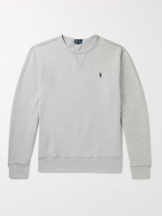 Polo Ralph Lauren Melangé Fleece-Back Cotton-Blend Jersey Sweatshirt