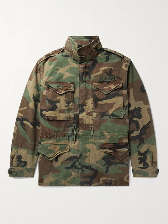 POLO RALPH LAUREN Layered Camouflage-Print Cotton and Quilted Ripstop Jacket