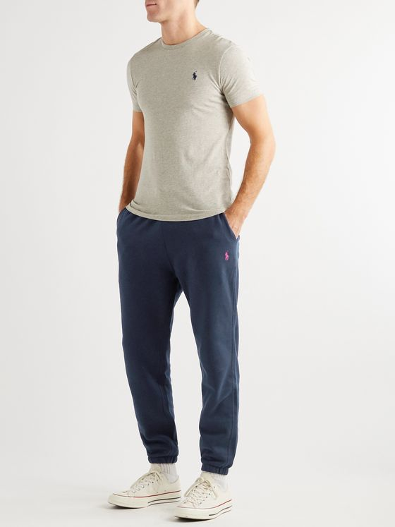 Polo Ralph Lauren Tapered Logo-Embroidered Cotton-Blend Jersey Sweatpants
