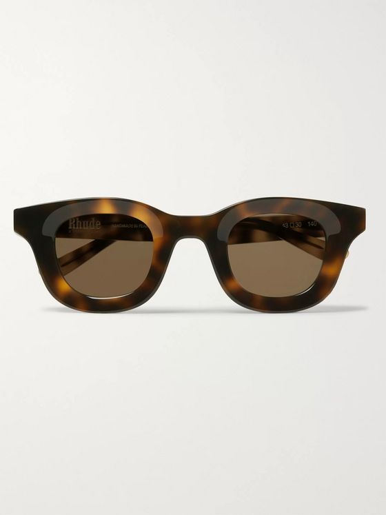 Rhude + Thierry Lasry Rhodeo Square-Frame Tortoiseshell Acetate Sunglasses