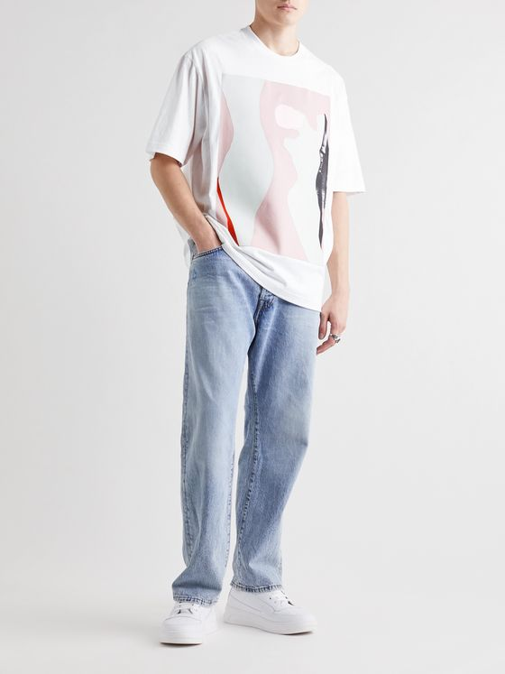 ACNE STUDIOS + Daniel Silver Embroidered Printed Cotton-Jersey T-Shirt