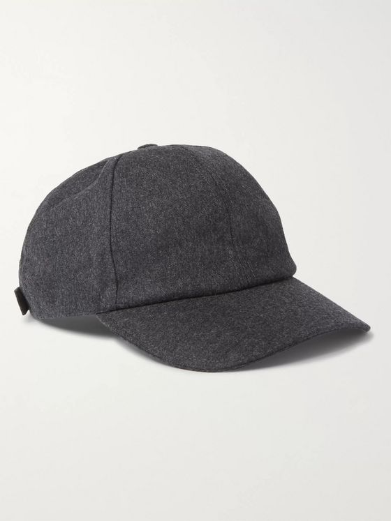 Officine Générale Worsted Wool-Flannel Baseball Cap