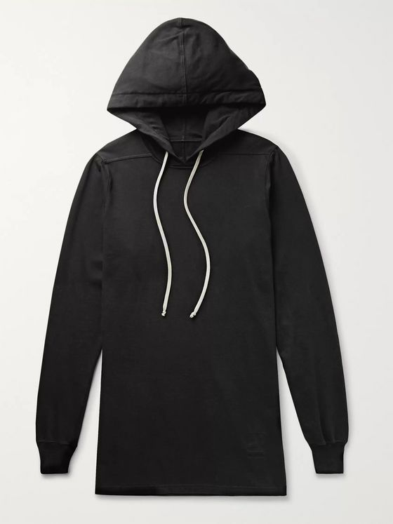 Rick Owens DRKSHDW Fleece-Back Cotton-Jersey Hoodie