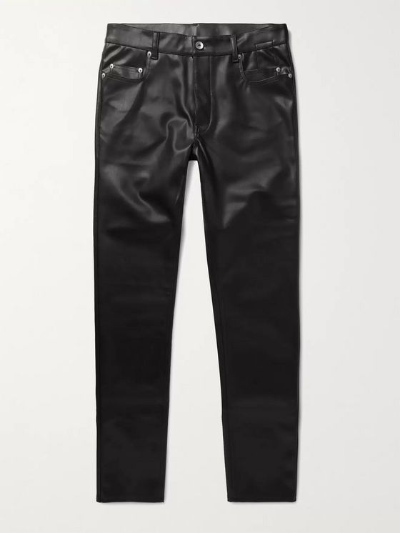 Rick Owens DRKSHDW Tyrone Slim-Fit Faux Leather Trousers