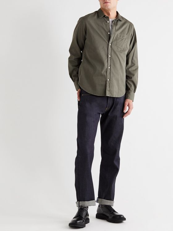 Officine Générale Lipp Slim-Fit Garment-Dyed Cotton-Twill Shirt