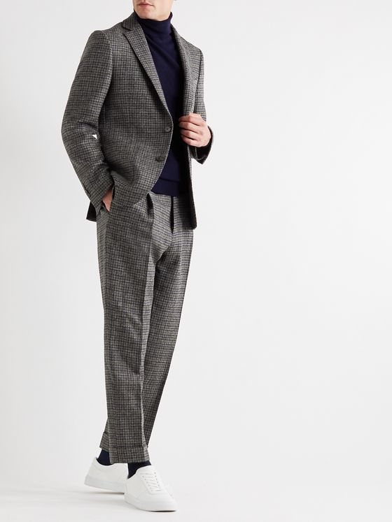 Officine Générale Houndstooth Wool Suit Jacket