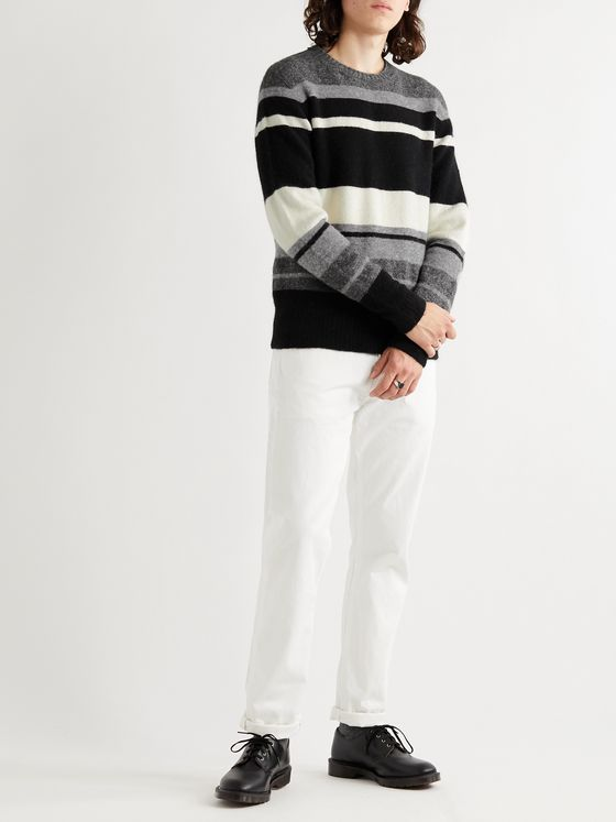 OFFICINE GÉNÉRALE Marco Striped Alpaca-Blend Sweater