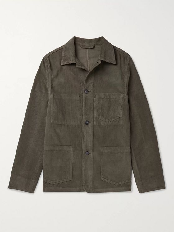 Officine Générale Cotton-Corduroy Chore Jacket