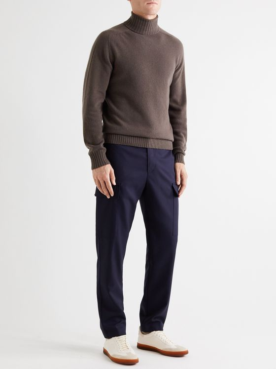 Officine Générale Merino Wool and Cashmere-Blend Rollneck Sweater