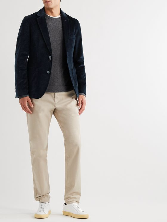 OFFICINE GÉNÉRALE Slim-Fit Unstructured Cotton-Blend Corduroy Blazer
