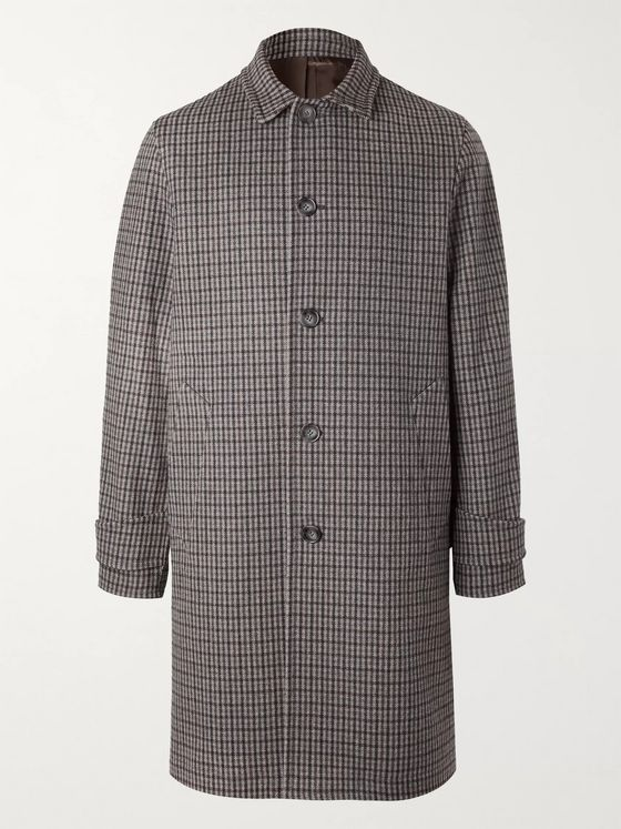 Officine Générale Stephane Checked Wool-Blend Coat