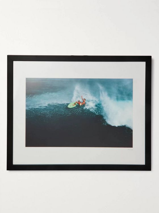 "Sonic Editions Framed 1981 Walter Iooss Laird Hamilton Print, 16"" x 20"""