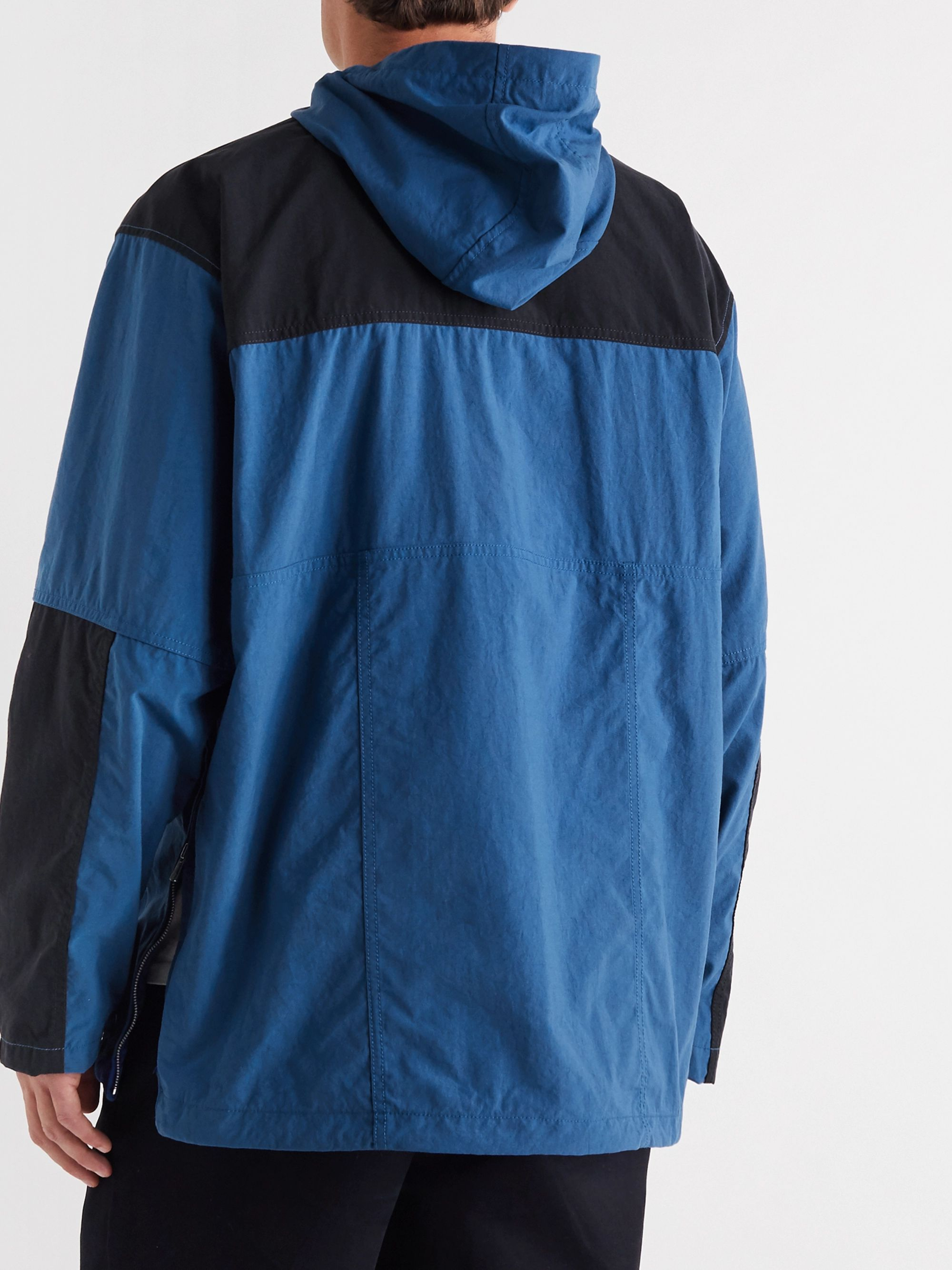 Pilgrim Surf + Supply Colour-Block Nylon Hooded Half-Zip Parka