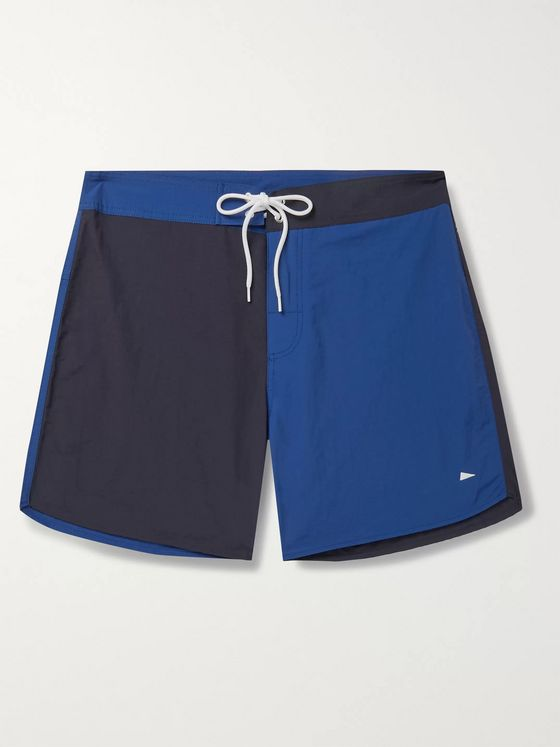 Pilgrim Surf + Supply Dorry Slim-Fit Mid-Length Colour-Blocked Swim Shorts