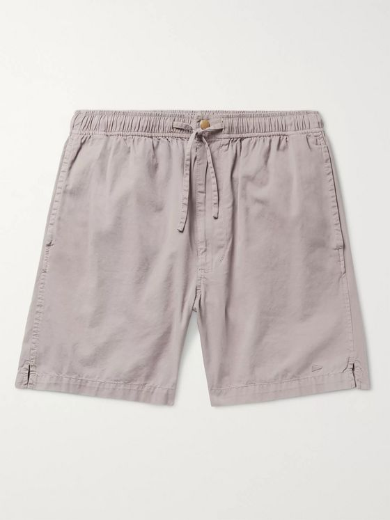 Pilgrim Surf + Supply Cheyne Cotton-Twill Drawstring Shorts