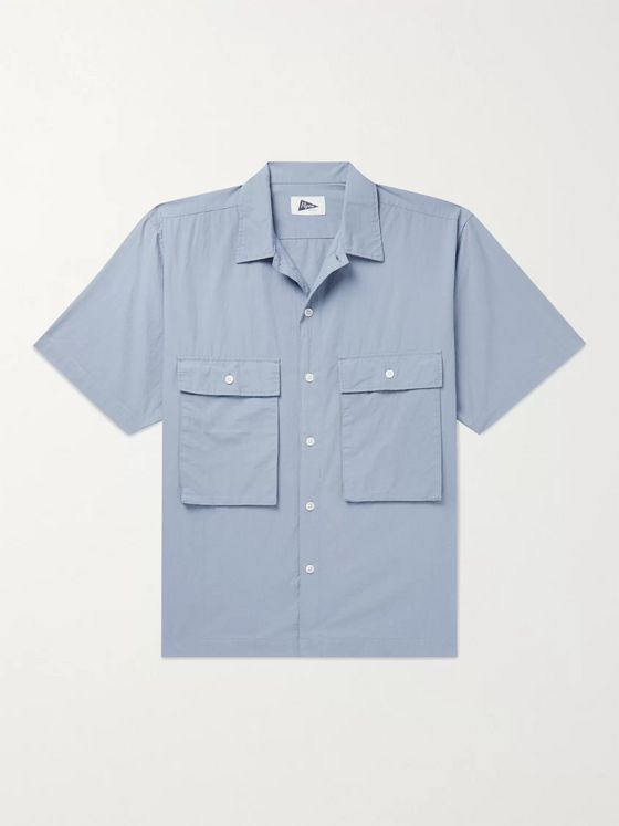 Pilgrim Surf + Supply Ivan Camp-Collar Cotton-Poplin Shirt