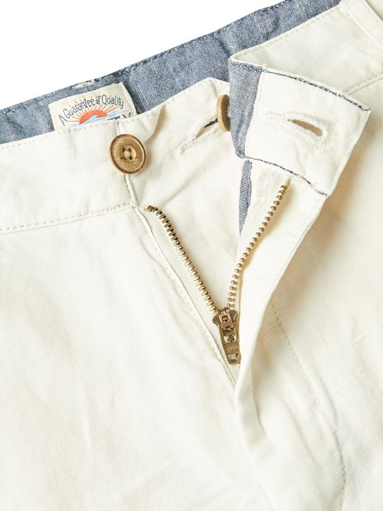 Faherty Malibu Slub Linen and Cotton-Blend Shorts
