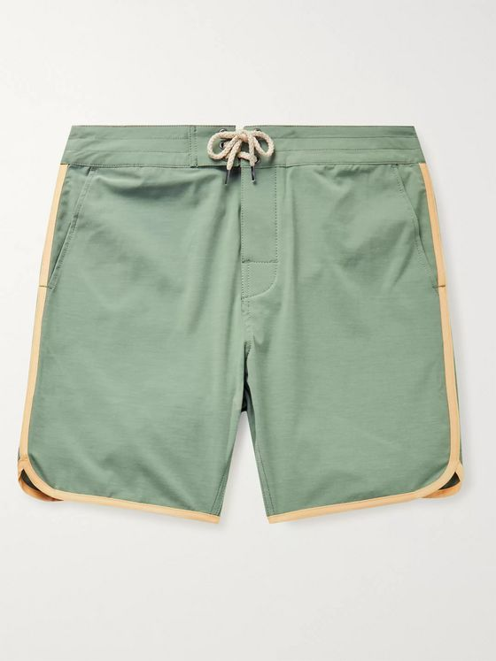 Faherty Sunset Mid-Length Contrast-Trimmed Swim Shorts