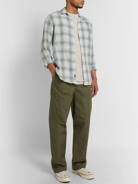 Faherty Laguna Checked Linen Shirt