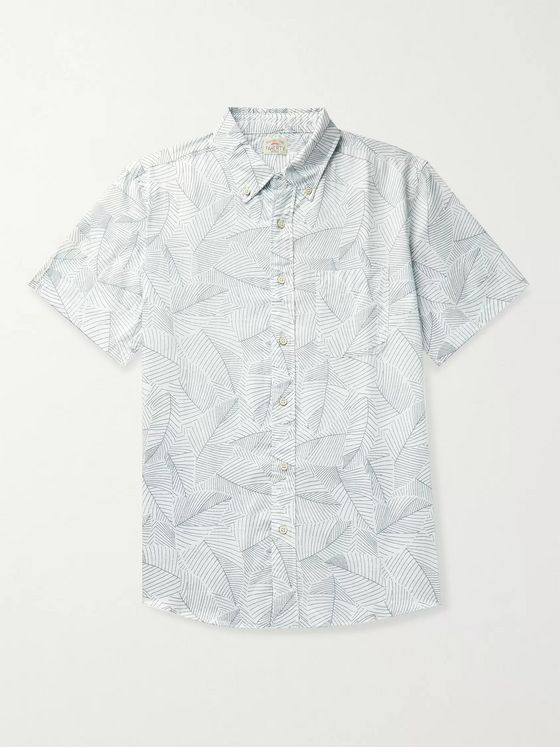 Faherty Playa Button-Down Collar Printed Cotton Shirt