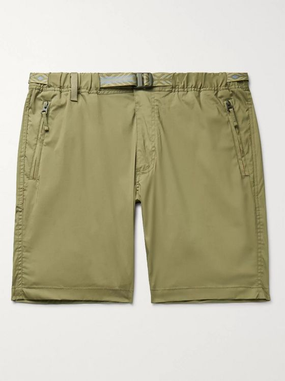 Faherty Rockpoint Belted Cotton-Blend Shell Shorts