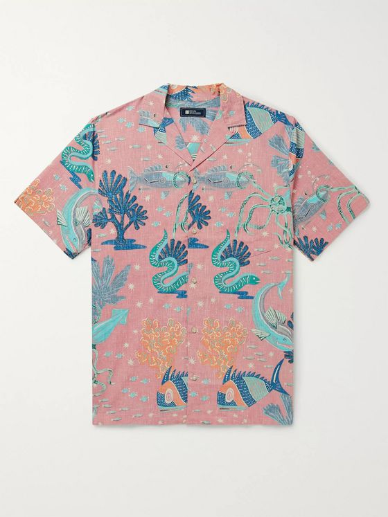 Reyn Spooner Camp-Collar Printed Spooner Kloth Cotton-Blend Shirt