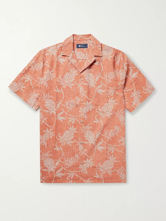 Reyn Spooner Camp-Collar Printed Cotton-Blend Shirt