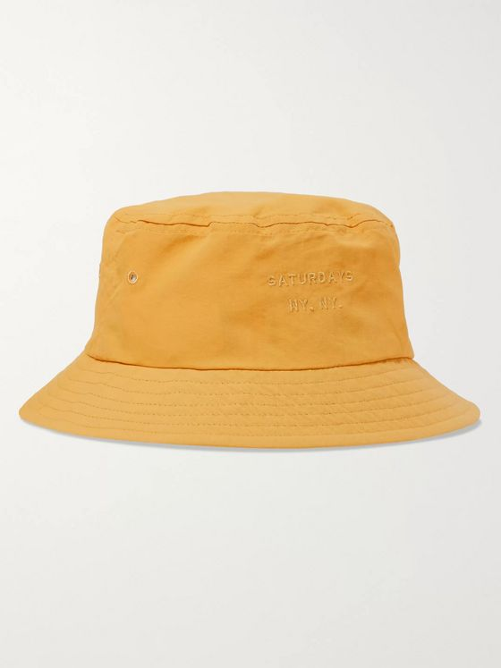 Saturdays NYC Logo-Embroidered Twill Bucket Hat
