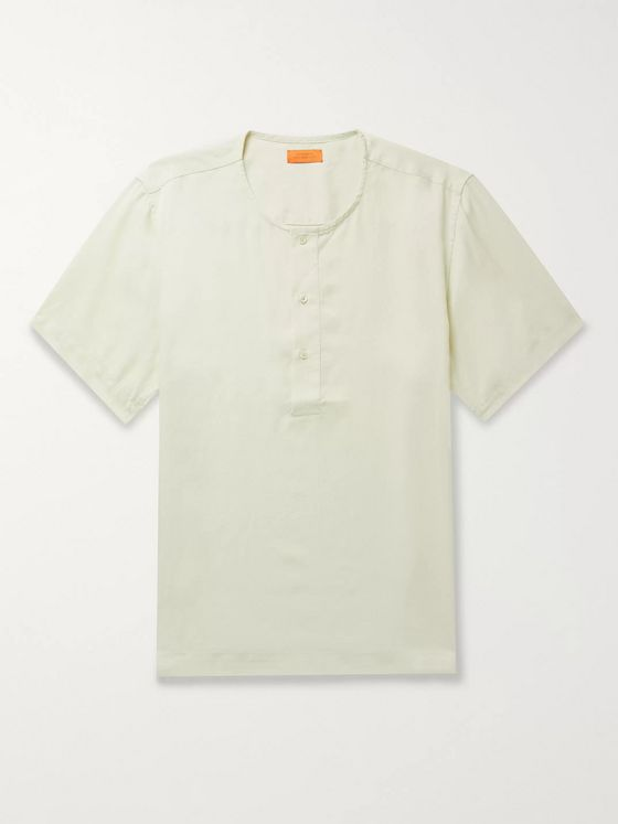 Saturdays NYC Lyocell Henley T-Shirt